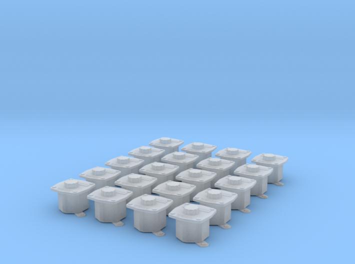 Jackbox, Sound-Powered Telephone 20pcs, 1/18 scale 3d printed