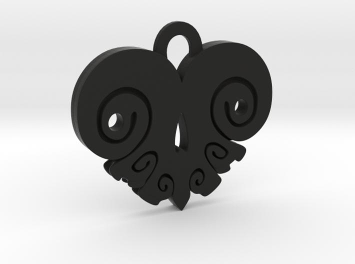 BoneHeart Pendant. 3d printed
