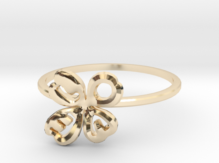 Clover Ring Size US 6.5 (16.8mm) 3d printed