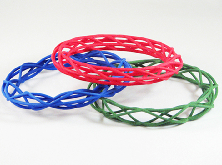 Twist Bangle A01M 3d printed