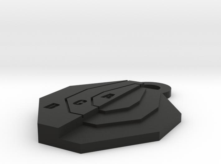 Ipsc Mini Target keychain 3d printed