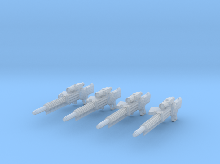 Gauss Rifle (1:18 Scale) 4 Pack 3d printed