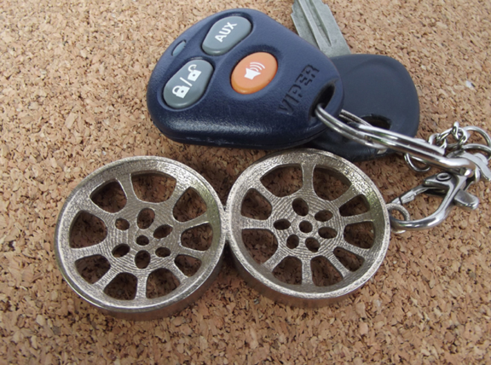 """Double Seconds """"void"""" steelpan keyring, L 3d printed"""