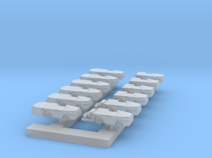 1:350 Scale MD-3 Tow Tractors (12x - Early Types) 3d printed