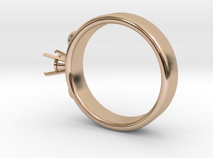 Ladybird Ring Ø16.25mm For Ø5mm Diamond 3d printed