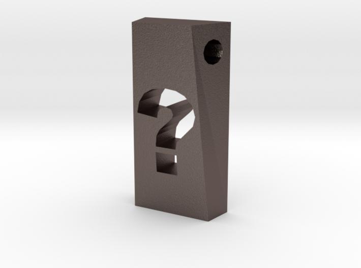 Question Mark Pendant 3d printed