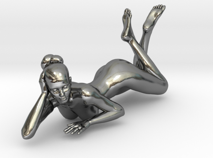 Sexy Girl-033-20-1-Silver 3d printed