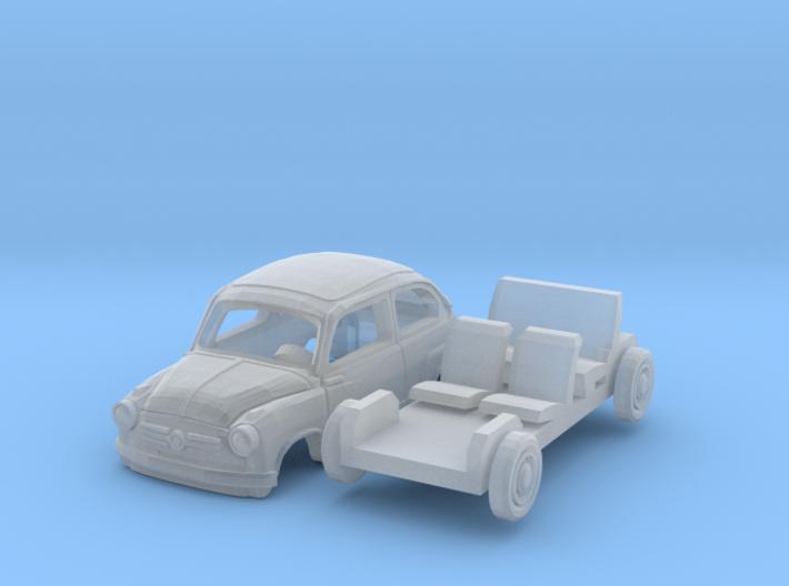 Fiat 600 (N 1:160) 3d printed
