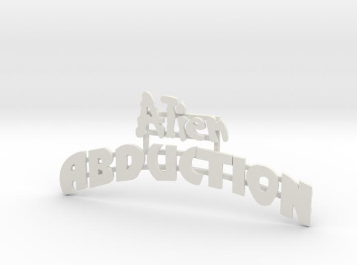 """Schild """"Alien Abduction"""" - 1:87 (H0 scale) 3d printed"""