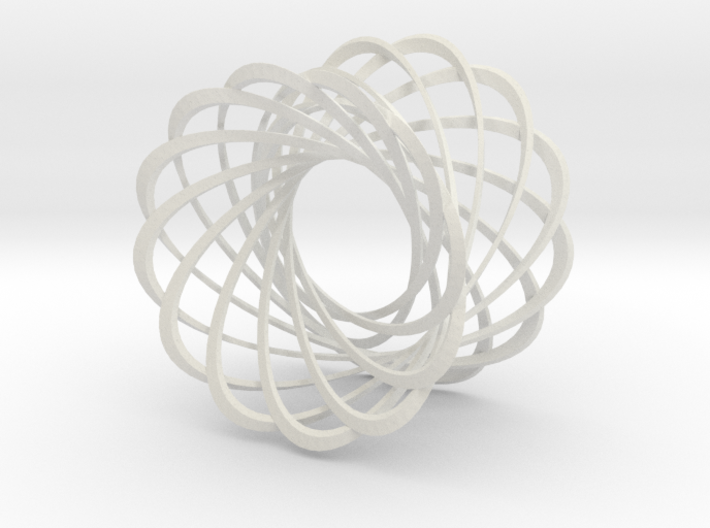 Mobius strips, 12 intertwined 3d printed