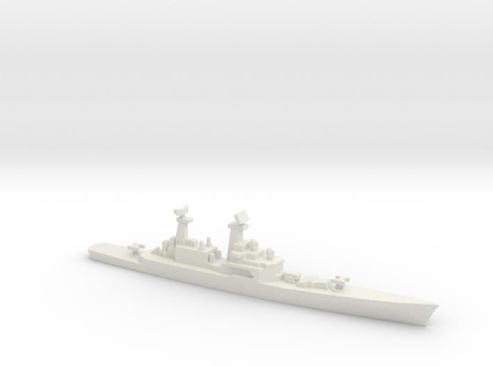 USS CGN-25 Bainbridge, 1990 layout, 1/1800 3d printed