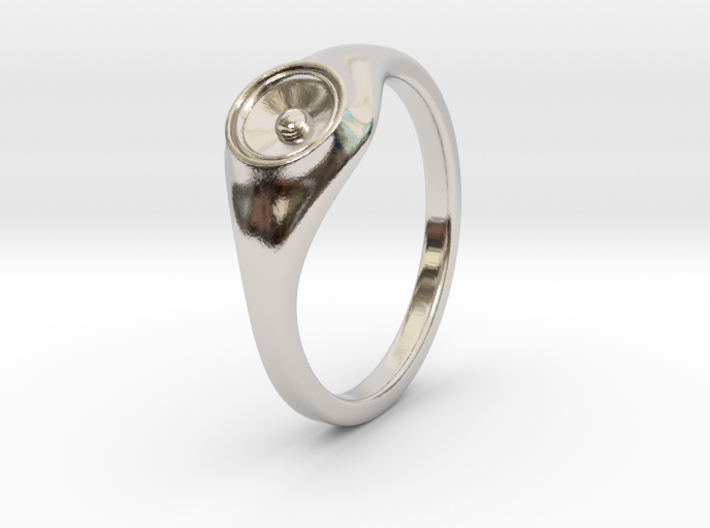 Liza - Ring - US 6¾ - 17.12mm 3d printed