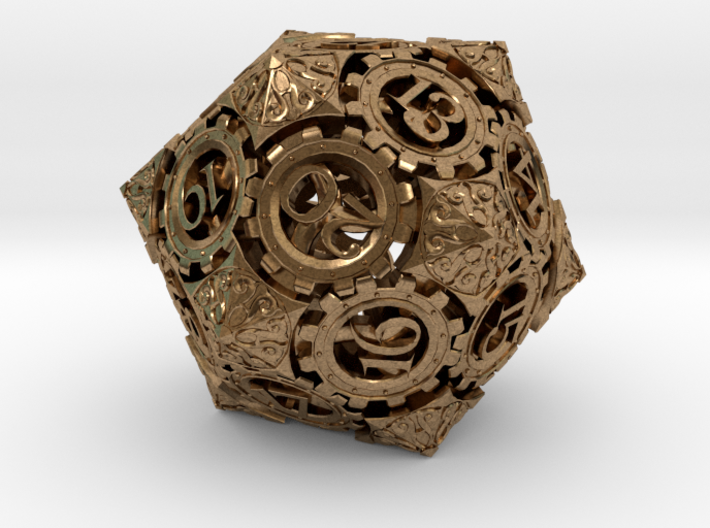 Steampunk D20 (Spindown) 3d printed