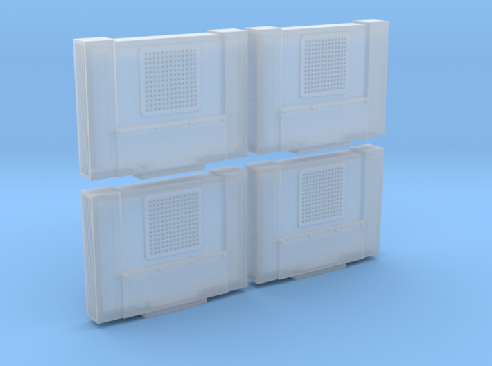 Cab Air Conditioner Prime Style (HO - 1:87) 4X 3d printed