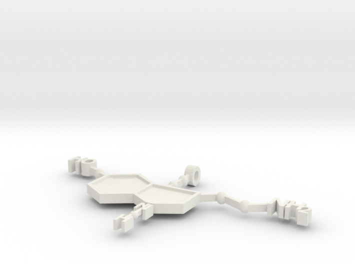 Serratonin Pendant 3d printed