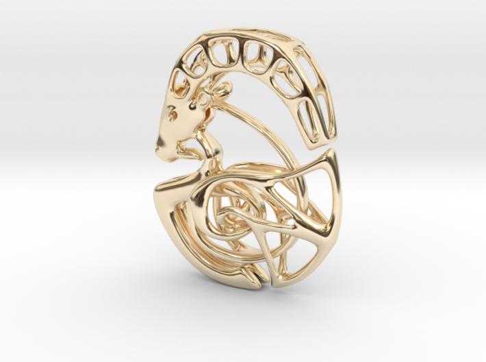 Capricorn Zodiac Pendant 3d printed
