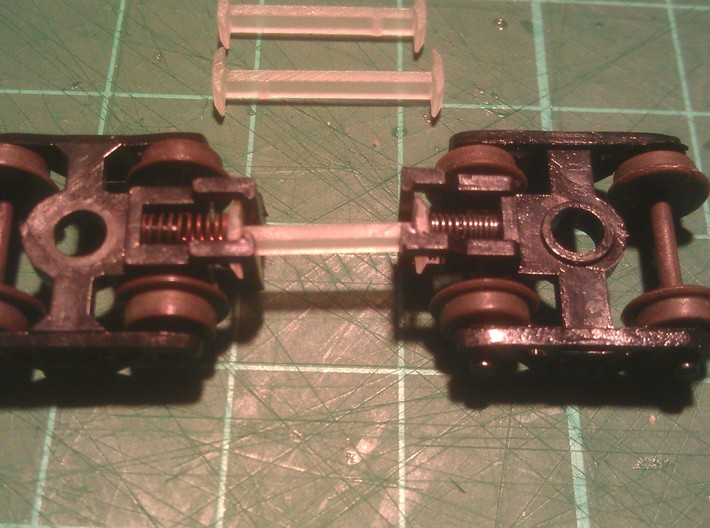 N Scale Fixed Coupling (Mixed Sizes) 3d printed 12mm Coupling Used For Photo