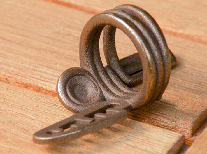 Balem's Ring3 - US-Size 3 (14.05 mm) 3d printed Ring 3 in polished bronze steel (shown: size 10)