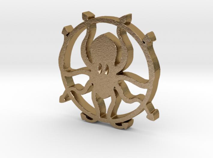 Kraken pendant 3d printed