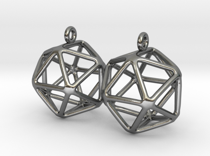 Icosahedron Earring 3d printed