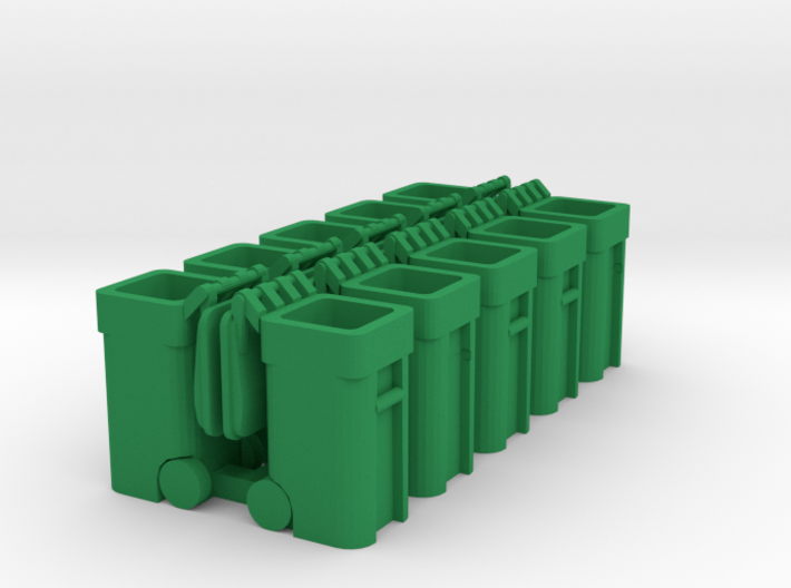 Trash Cart Open - HO 87:1 Scale Qty (10) 3d printed
