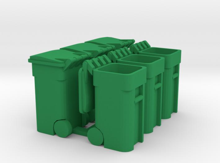 Trash Cart (6) Mixed - 'O' 48:1 Scale 3d printed
