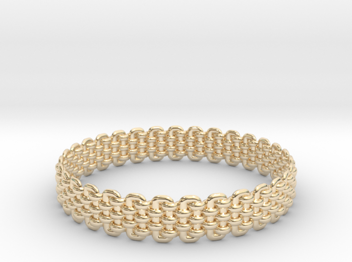 Wicker Pattern Bracelet Size 4 3d printed