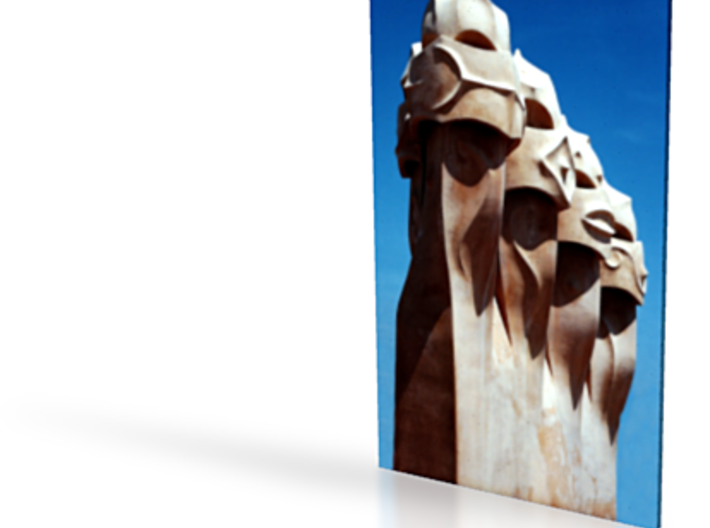 Gaudi Faces 6in 3d printed