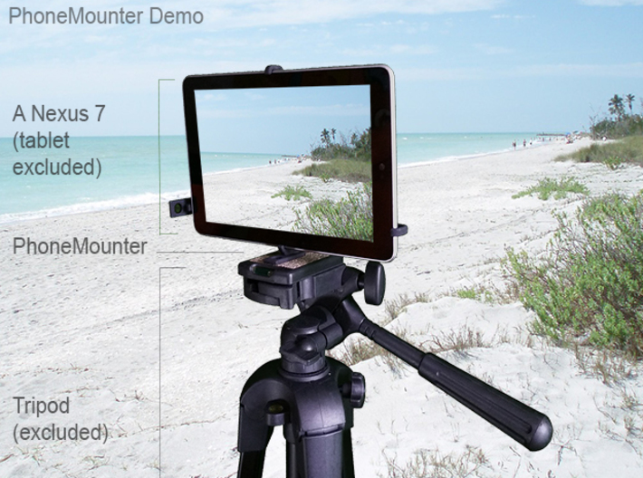 Lenovo Tab 2 A7-10 tripod & stabilizer mount 3d printed