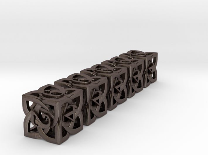 Celtic D6 x5 Dice Set 3d printed