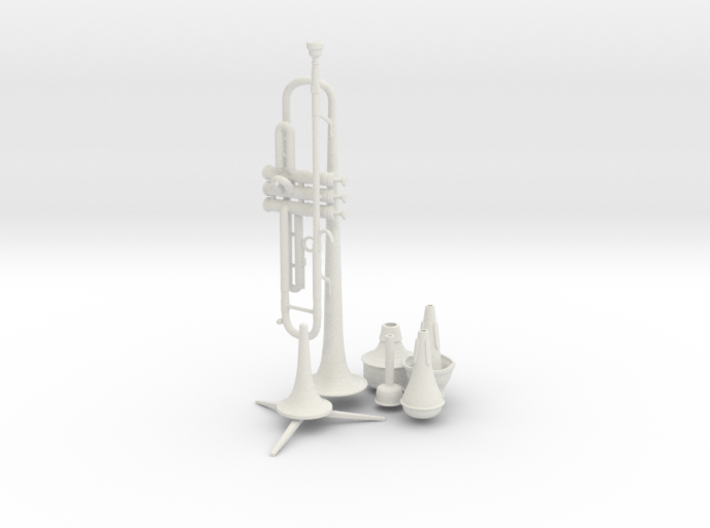 Michael's Mini Trumpet (Complete Set) 3d printed