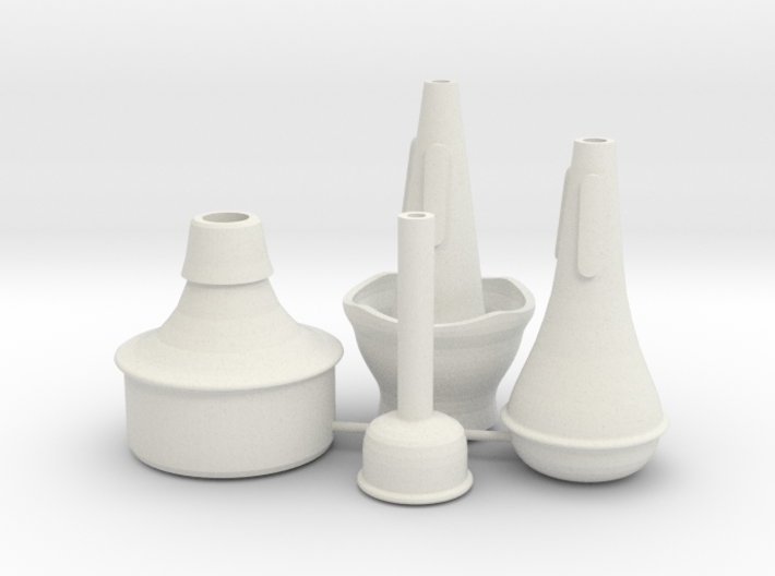 "Mini Trumpet Mutes (for ""Michael's Mini Trumpet"") 3d printed"