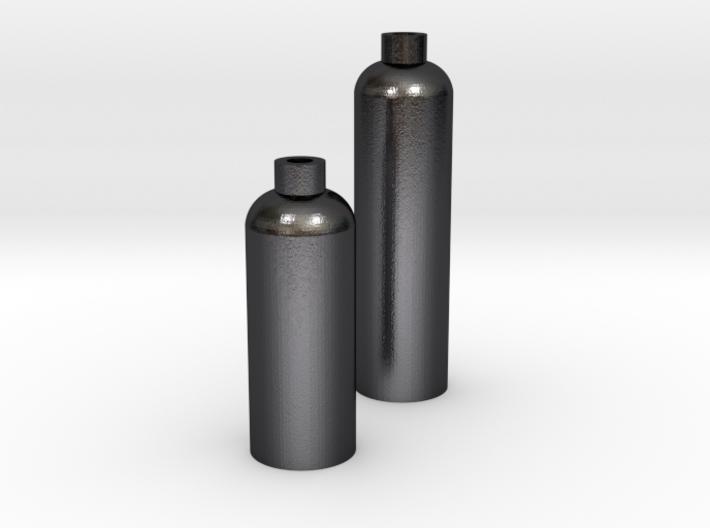 2 Modern Bottle Vases Large and Short 3d printed