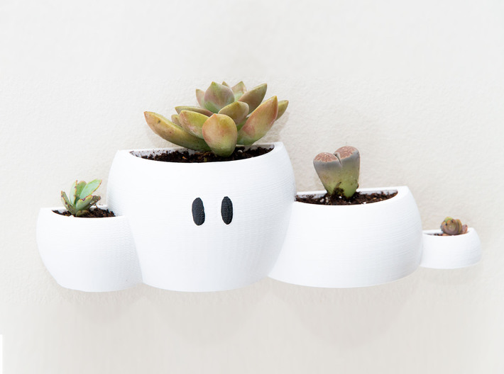 Mario Cloud Wall Planter 3d printed