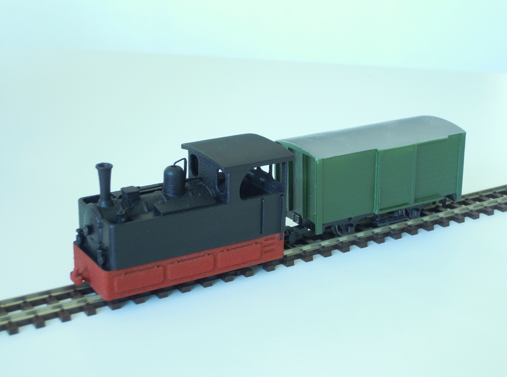 Freelance H0e tramway loco (n. 4) 3d printed White Strong & Flexible Polished version