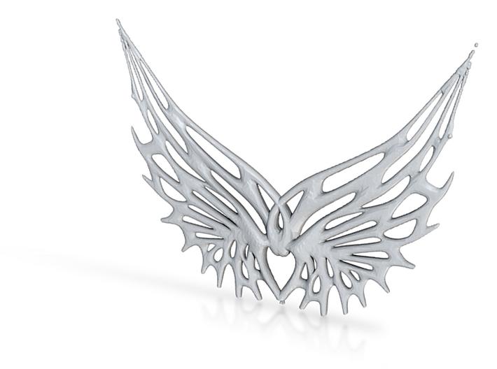 Wing Pendant 3d printed