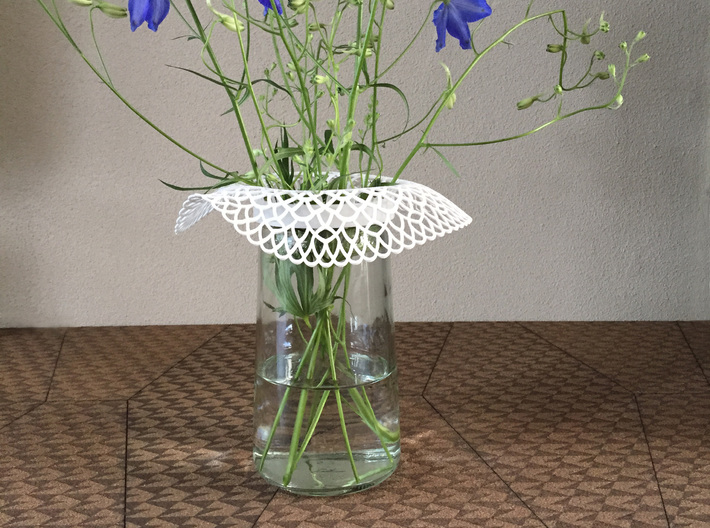 Collar Vase Dutch Lace for jar size:82 (6 leads) 3d printed Collar Vase