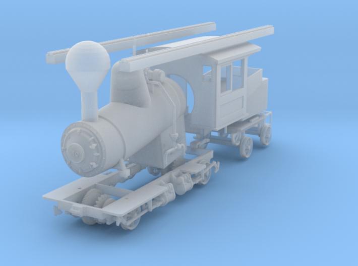 Mt. Washington Cog Railway Locomotive #10 - HO  3d printed