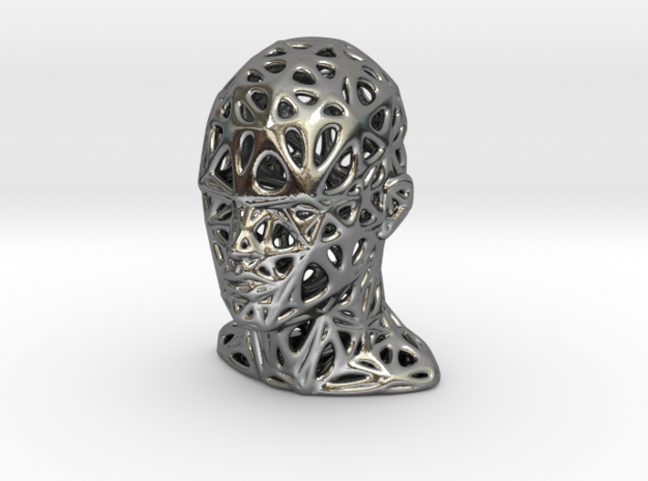 Female Voronoi Head Scale 0.25 3d printed Female Voronoi Head Scale 0.25