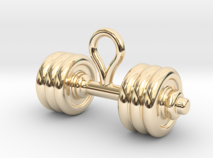 Small Dumbbell Earring 3d printed