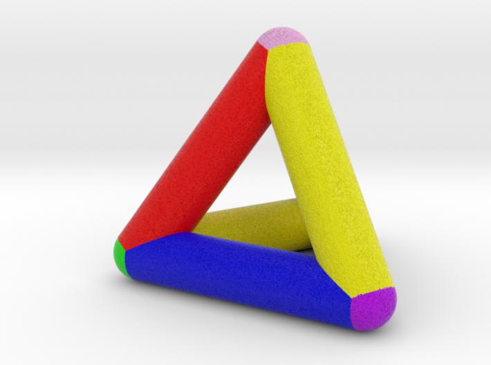 0278 Tetrahedron V&E (full color) 3d printed