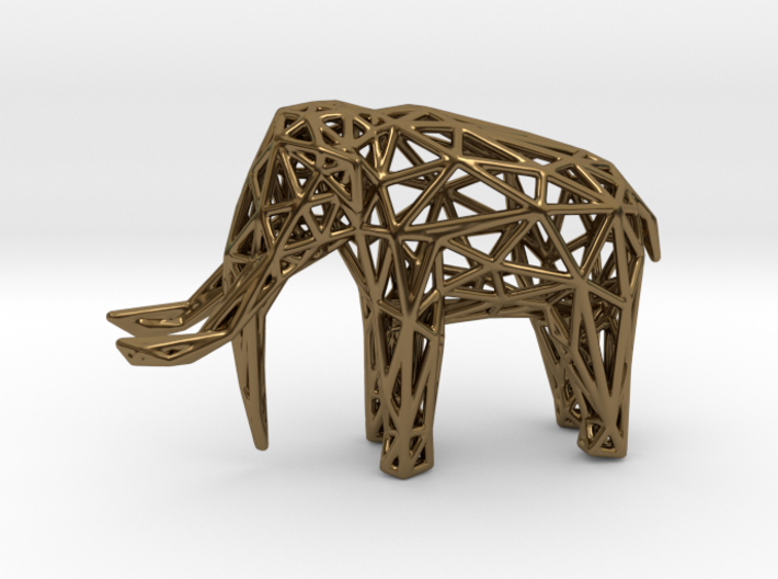Elephant Wireframe 50mm 3d printed