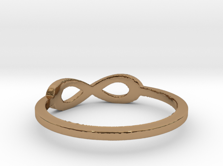 infinity ring Ring Size 7 3d printed