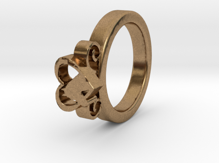 Horse Heart Ring Ø16.50 Mm 3d printed