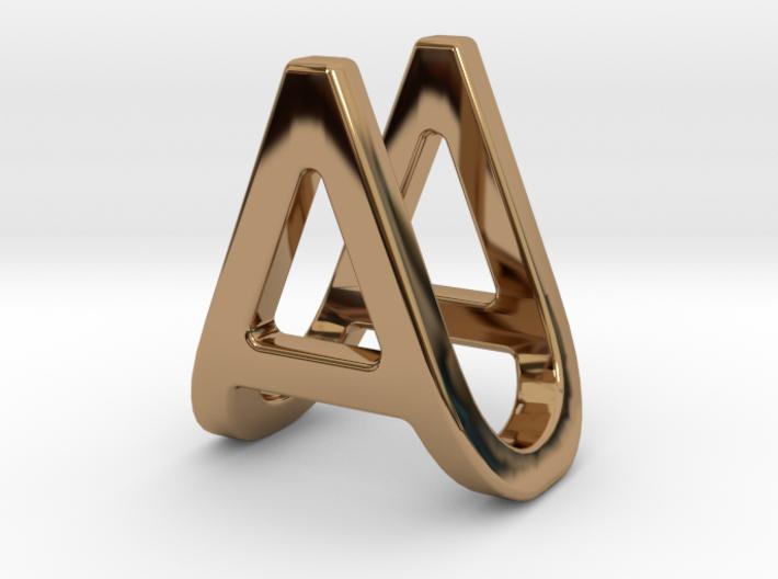 AU UA - Two way letter pendant 3d printed