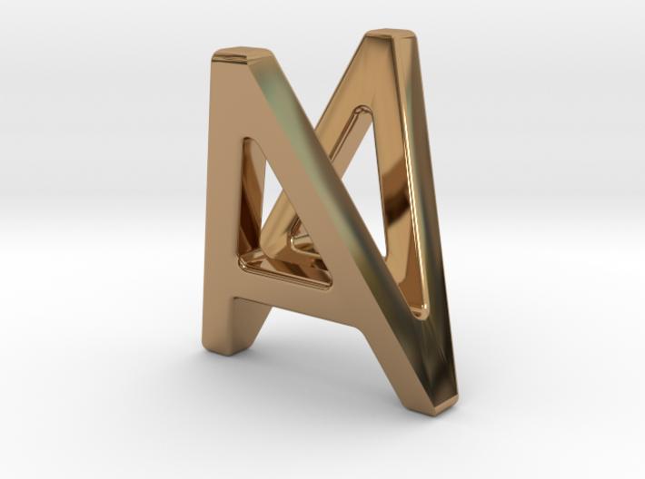 AV VA - Two way letter pendant 3d printed