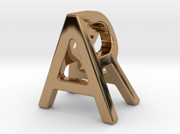 AR RA - Two way letter pendant 3d printed