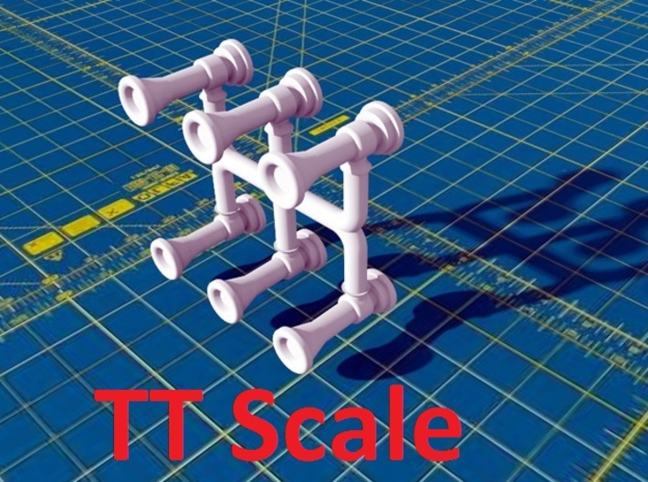 Locomotive Chime Horns Type 1-1 TT Scale 3d printed
