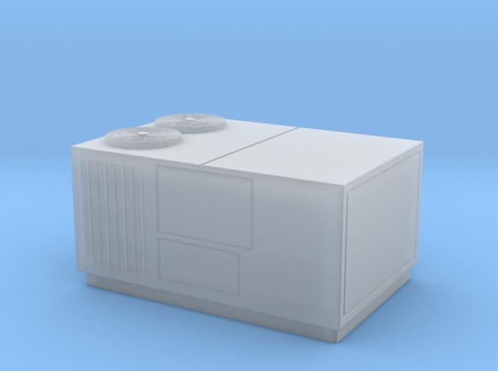 HO Scale Rooftop HVAC Unit 3d printed