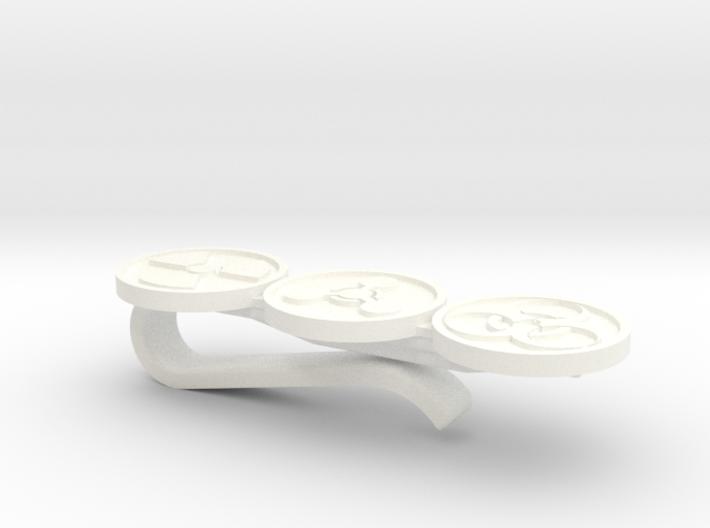 Nuke Chem Bio Tie bar / tie clip - PLASTIC 3d printed